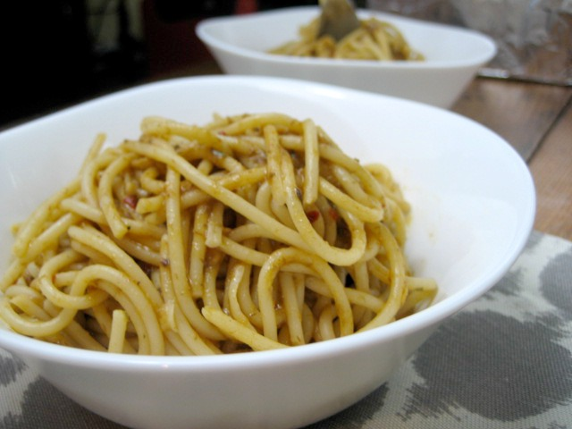 Pasta Aglio Olio With Anchovies keys to the cucina 2