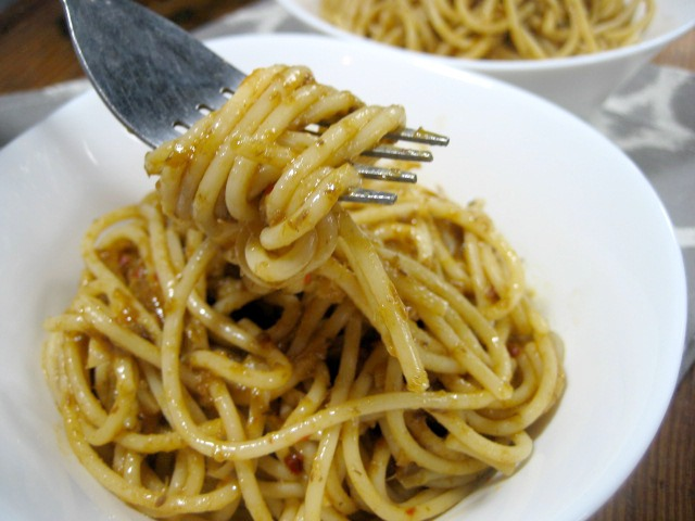 Pasta Aglio Olio With Anchovies keys to the cucina 3