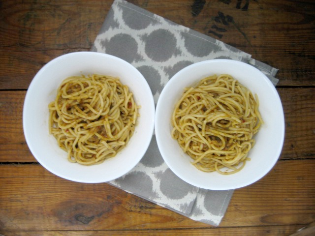 Pasta Aglio Olio With Anchovies keys to the cucina 4