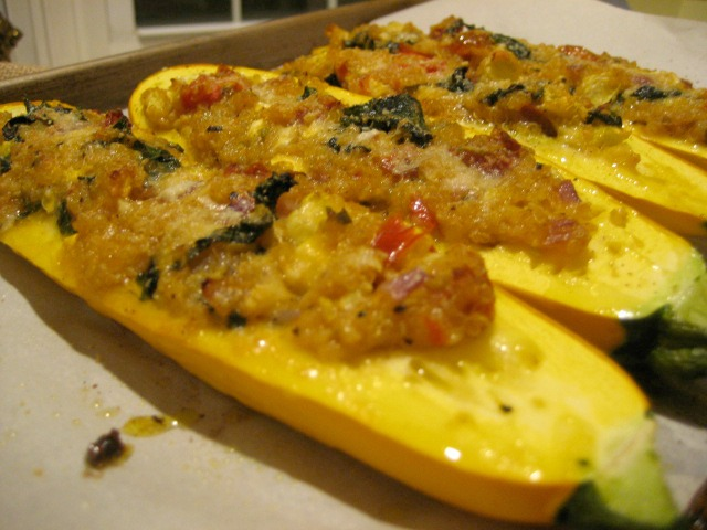 Yellow Squash Boats Stuffed with Quinoa and Veggies | Keys to the ...