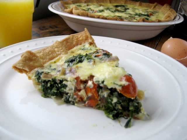 spinach feta tomato quiche keys to the cucina 3