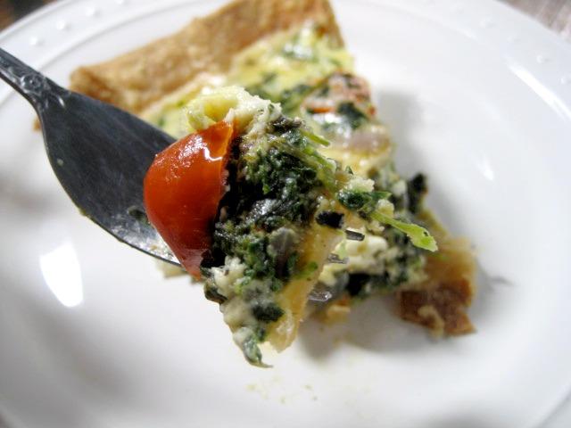 spinach feta tomato quiche keys to the cucina 4