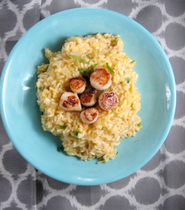 lemon parmesean risotto with pan seared sea scallops keys to the cucina 1