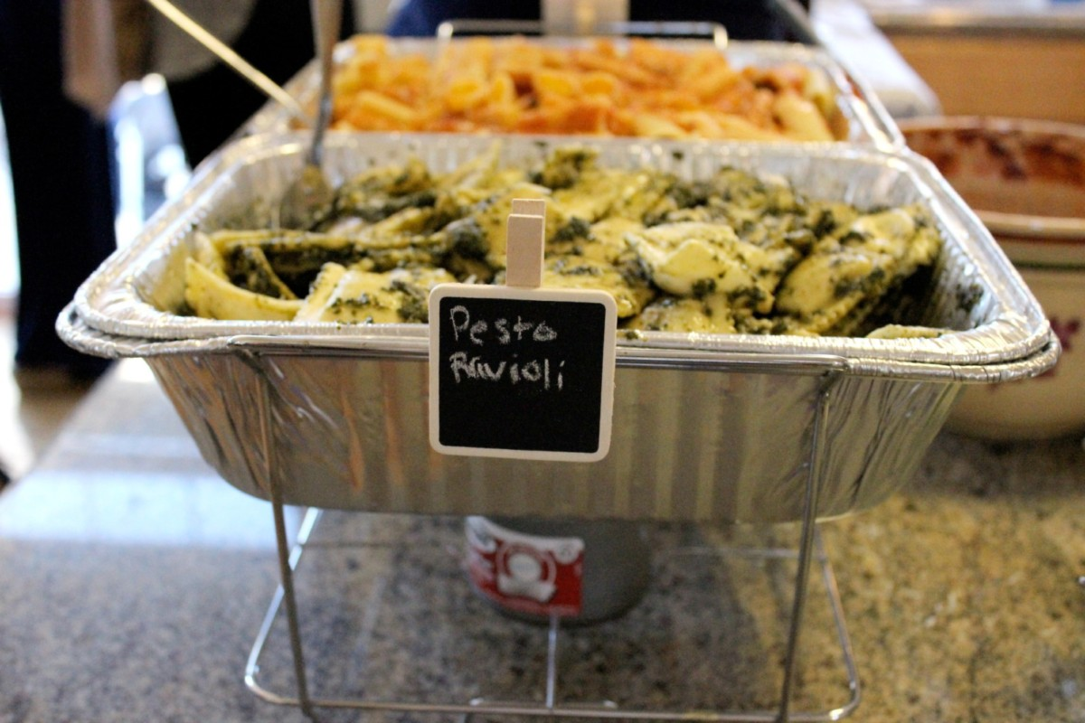 pasta bar easy appetizers for a bridal shower keys to the cucina