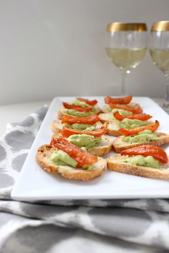 slow roasted tomato and whipped avocado crostini keys to the cucina 3