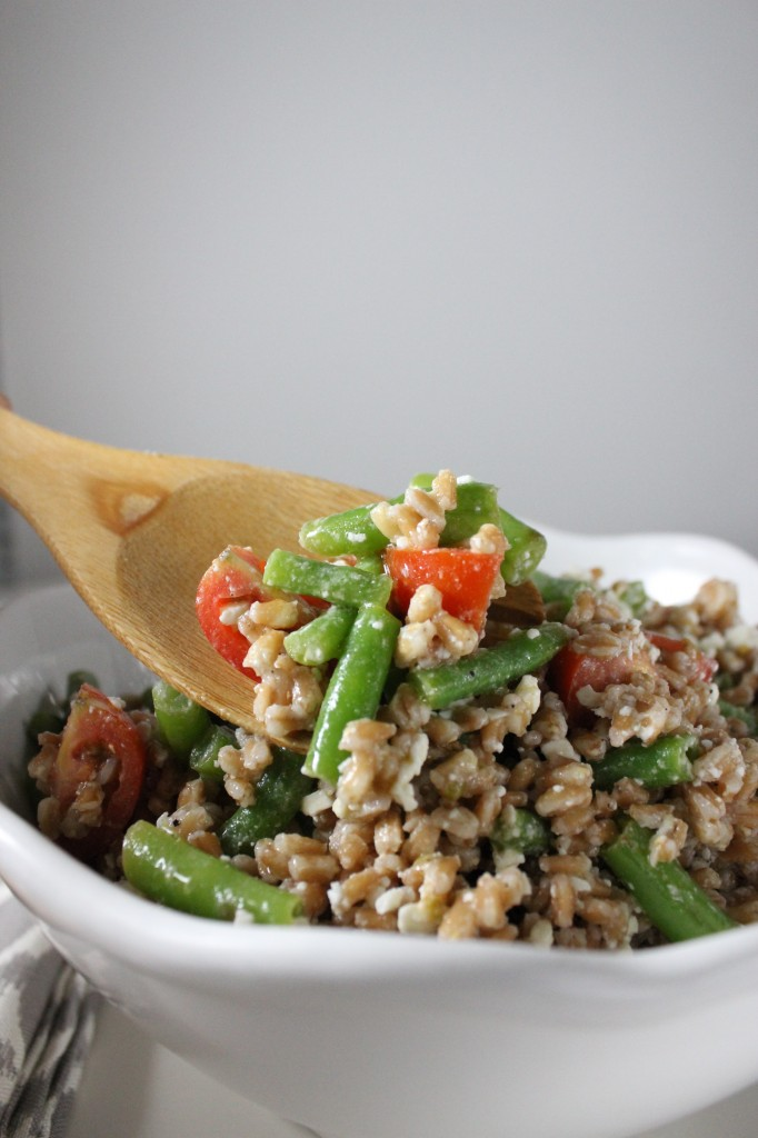 farro green bean salad keys to the cucina 1