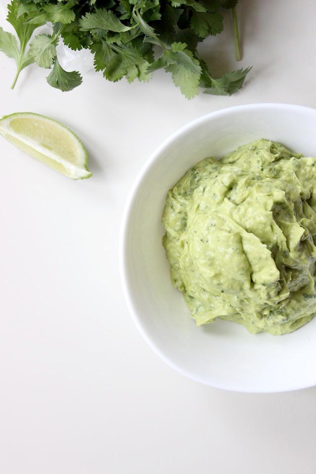avocado pesto dip cilantro parmesan keys to the cucina 2