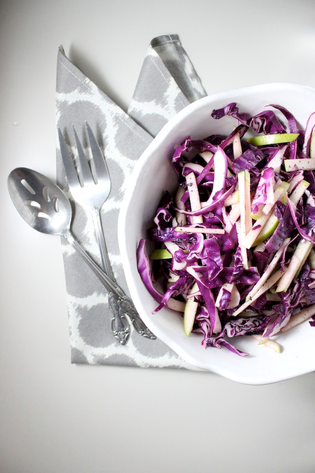 red cabbage and apple cole slaw keys to the cucina 1