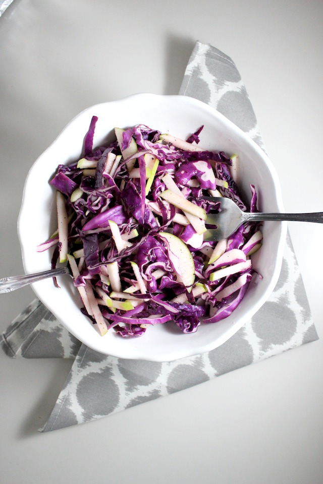 red cabbage and apple cole slaw keys to the cucina 2