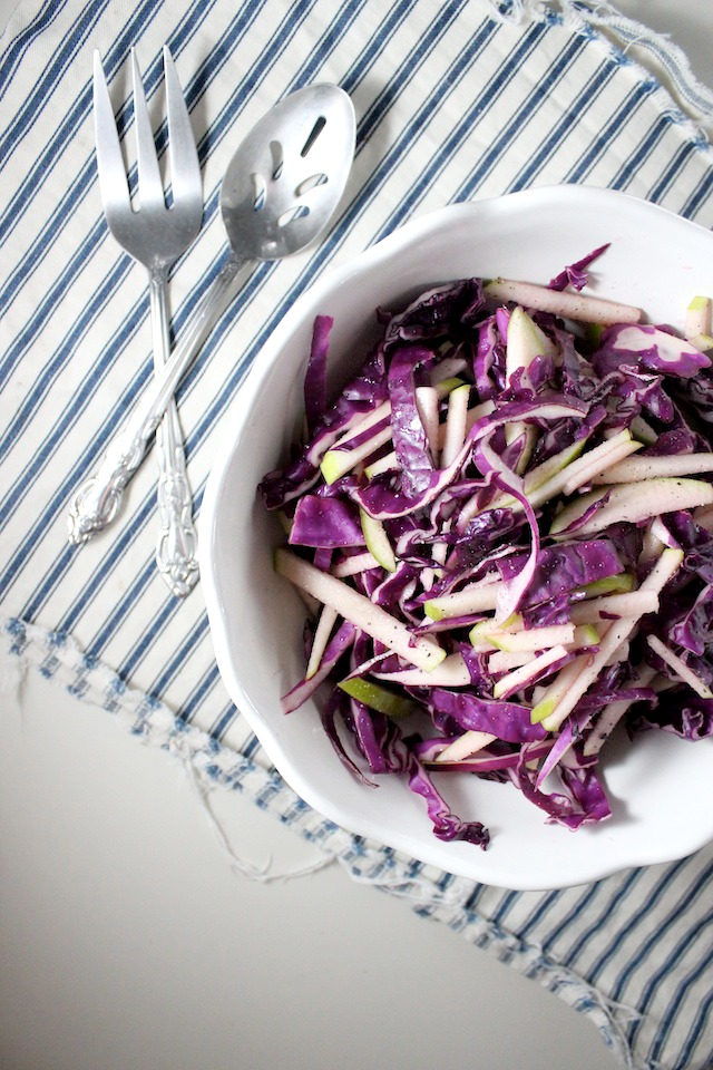 red cabbage and apple cole slaw keys to the cucina 3