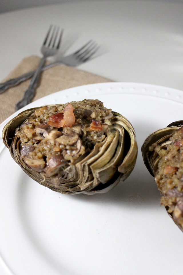stuffed artichokes bacon mushroom parmesan keys to the cucina 3