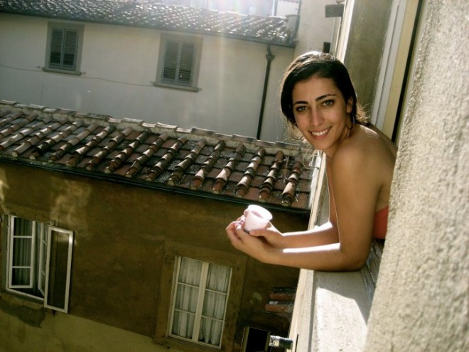 Hanging out of a window in Rome and drinking more Chianti out of a classy plastic cup - such an amazing trip!