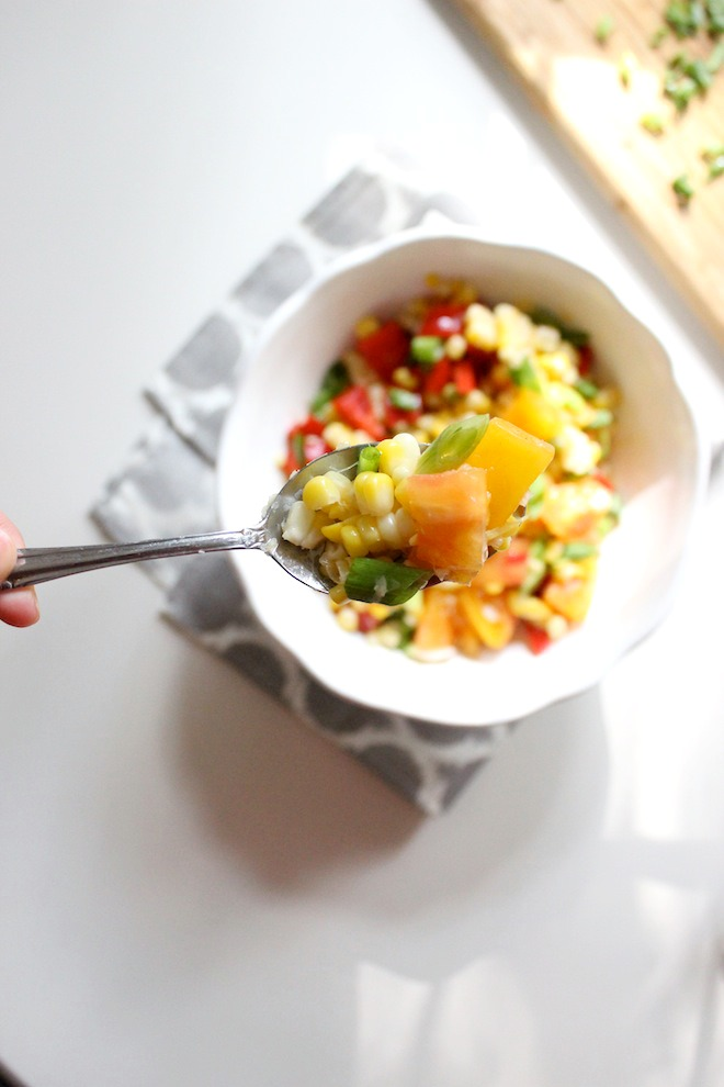 Corn Salad with Heirloom Tomatoes Lime Juice keys to the cucina 2