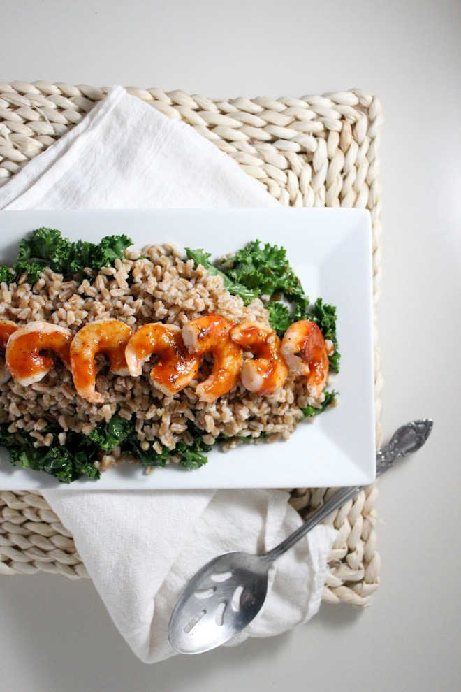 healthy farro kale bbq shrimp keys to the cucina 1