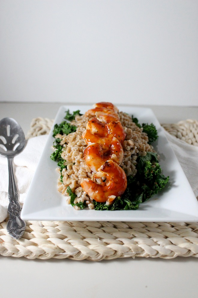 healthy farro kale bbq shrimp keys to the cucina 2