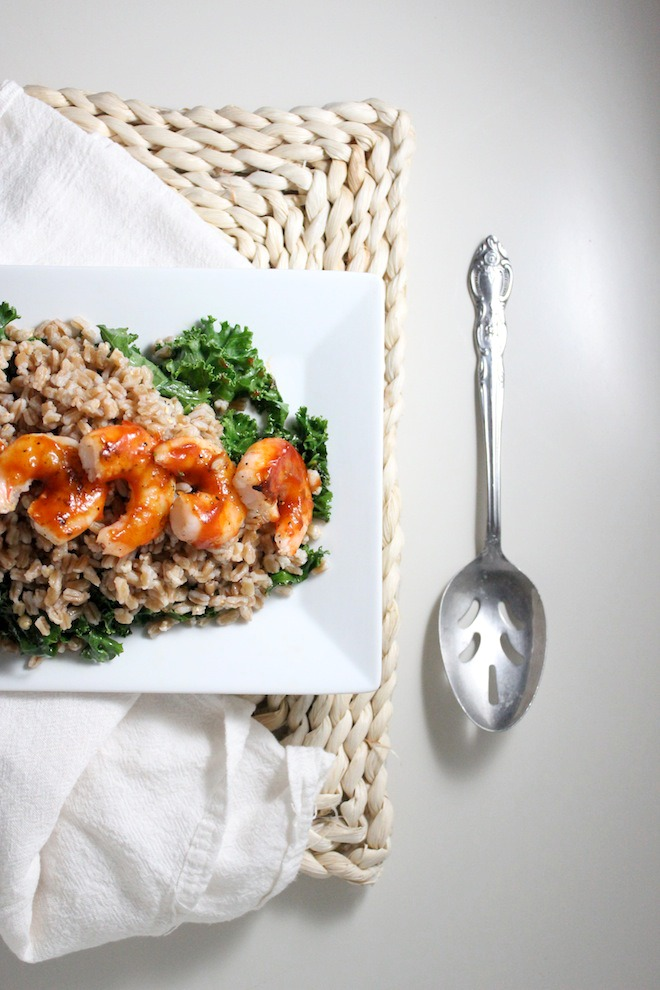 healthy farro kale bbq shrimp keys to the cucina 4