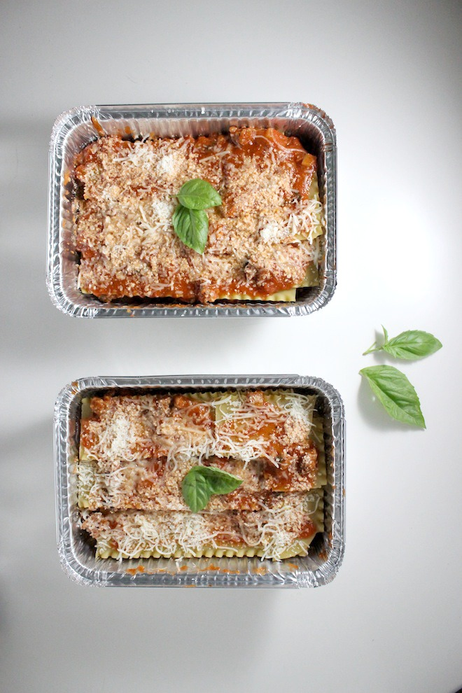 lasagna with tomato sauce sausage basil keys to the cucina 4