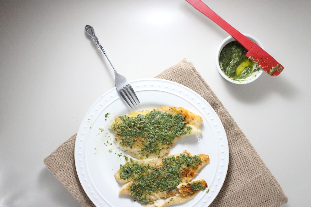 flounder with basil lime pesto keys to the cucina 3