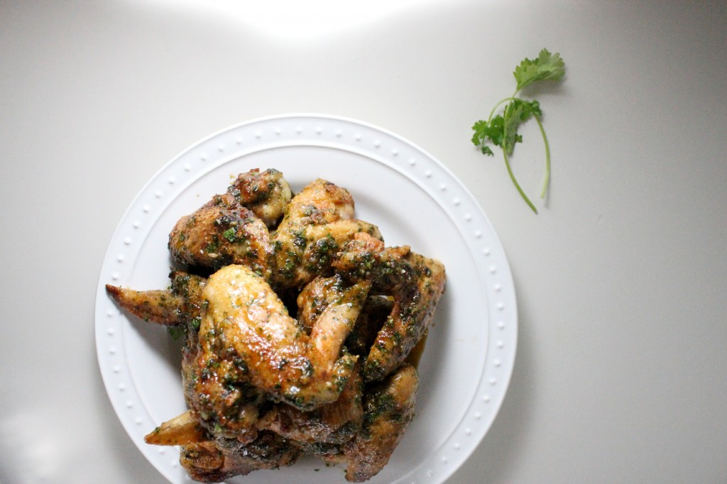 honey hot sauce cilantro garlic wings keys to the cucina 2