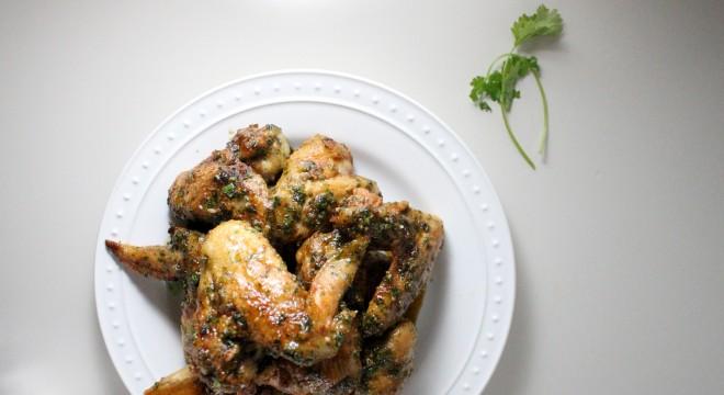 honey hot sauce cilantro garlic wings keys to the cucina 2