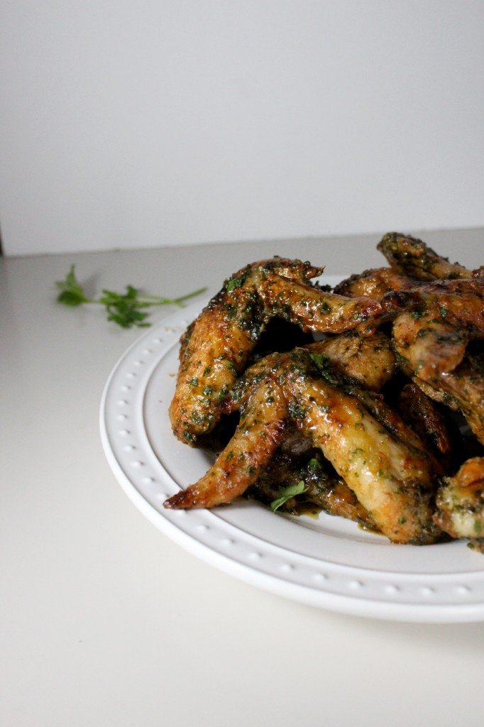 honey hot sauce cilantro garlic wings keys to the cucina 4