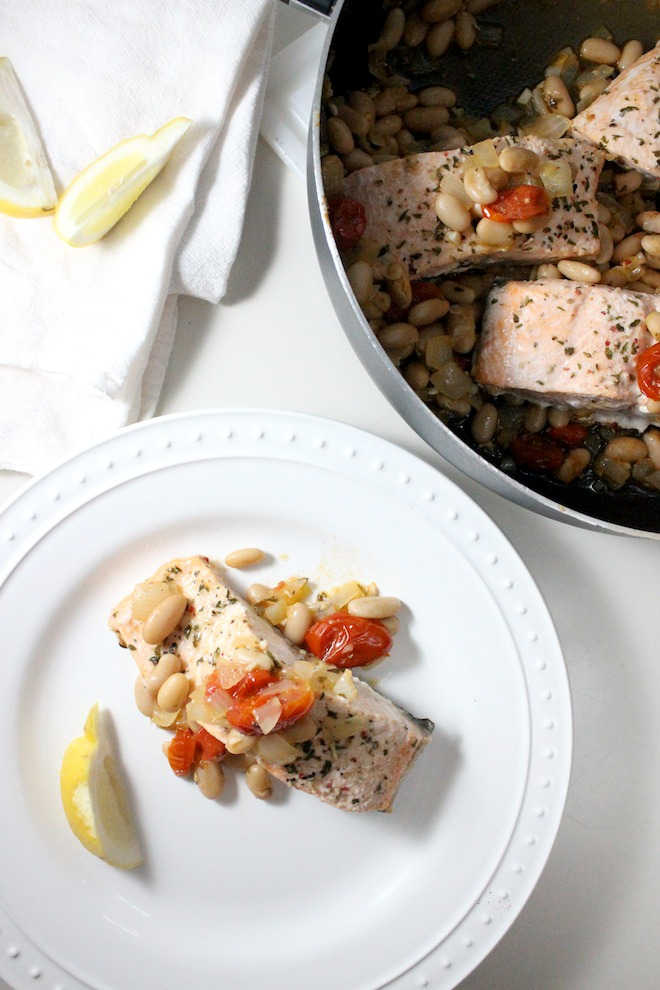 salmon tomatoes cannellini beans keys to the cucina 2