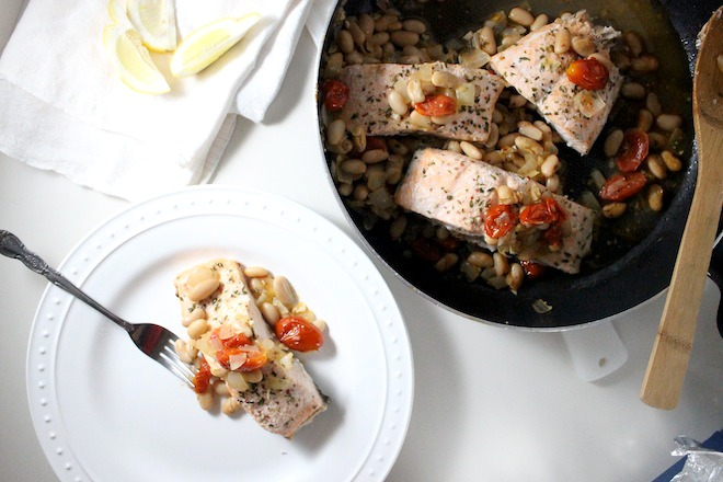 salmon tomatoes cannellini beans keys to the cucina 3