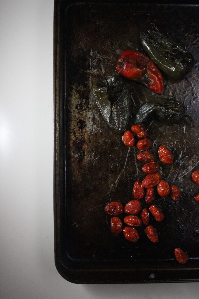 risotto roasted poblanos tomatoes shrimp keys to the cucina 2