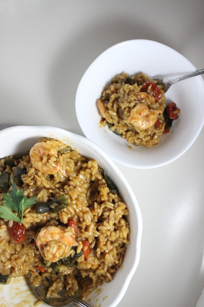 risotto roasted poblanos tomatoes shrimp keys to the cucina 3