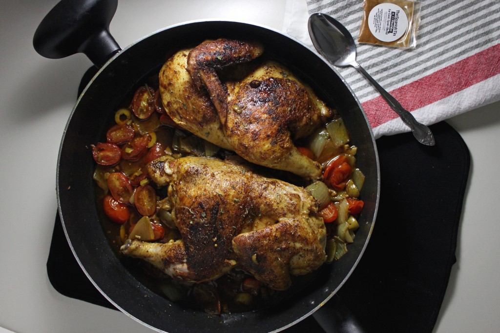 spanish chicken with olives tomatoes keystothecucina.com 1