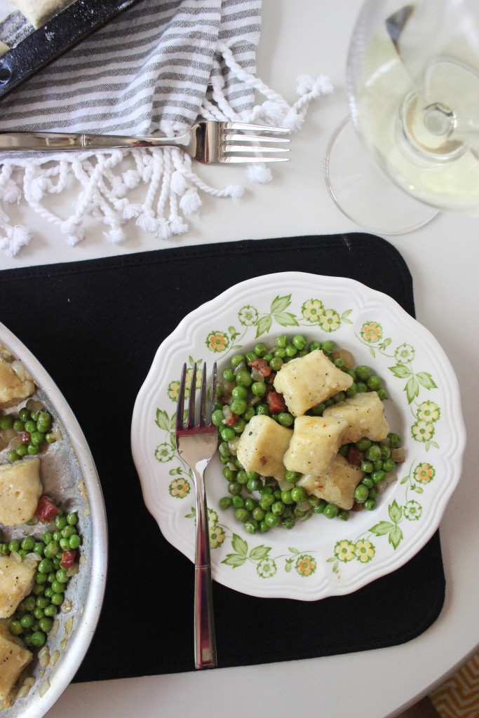 gnocchi with peas and pancetta www.keystothecucina 5