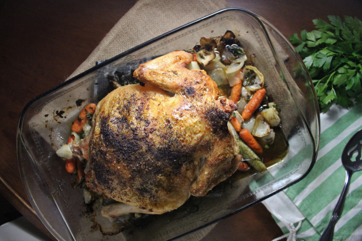 Roasted Chicken with Fennel and Carrots | Keys to the Cucina