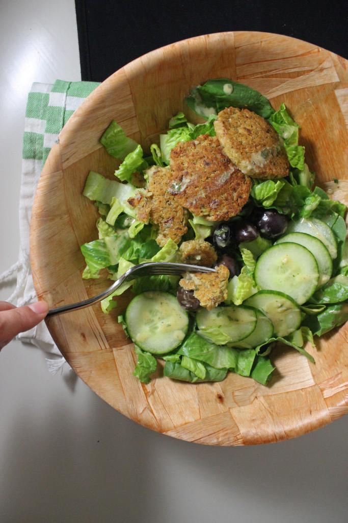 falafel baked lemon tahini salad dressing www.keystothecucina.com 3