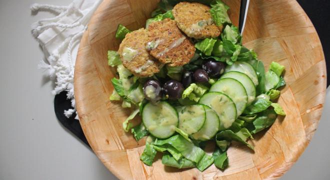 falafel baked lemon tahini salad dressing www.keystothecucina.com 4