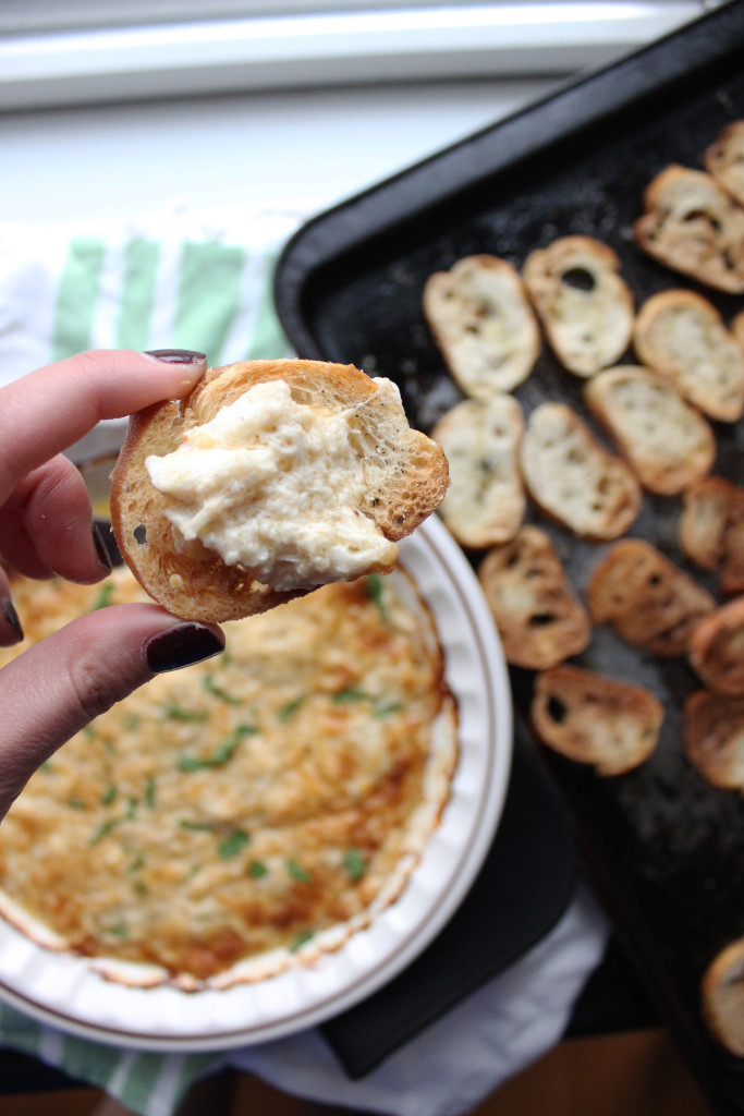 peapod crab dip with crostini www.keystothecucina4