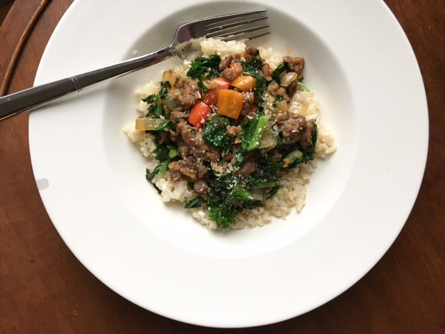 keystothecucina.com sausage kale brown rice 2