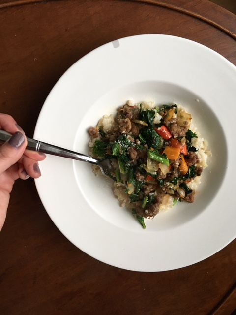 keystothecucina.com sausage kale brown rice 3