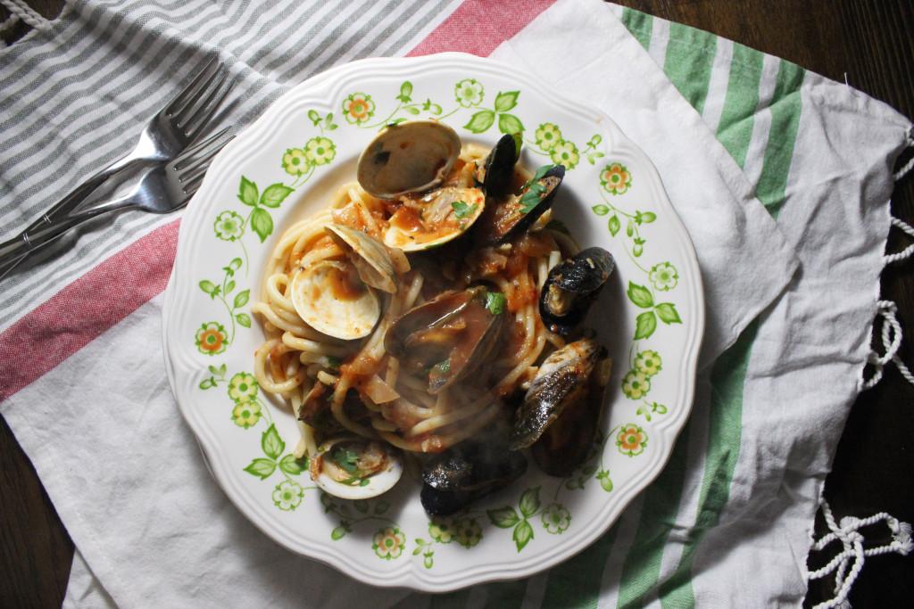 mussels clams red sauce bucatini keystothecucina.com 3