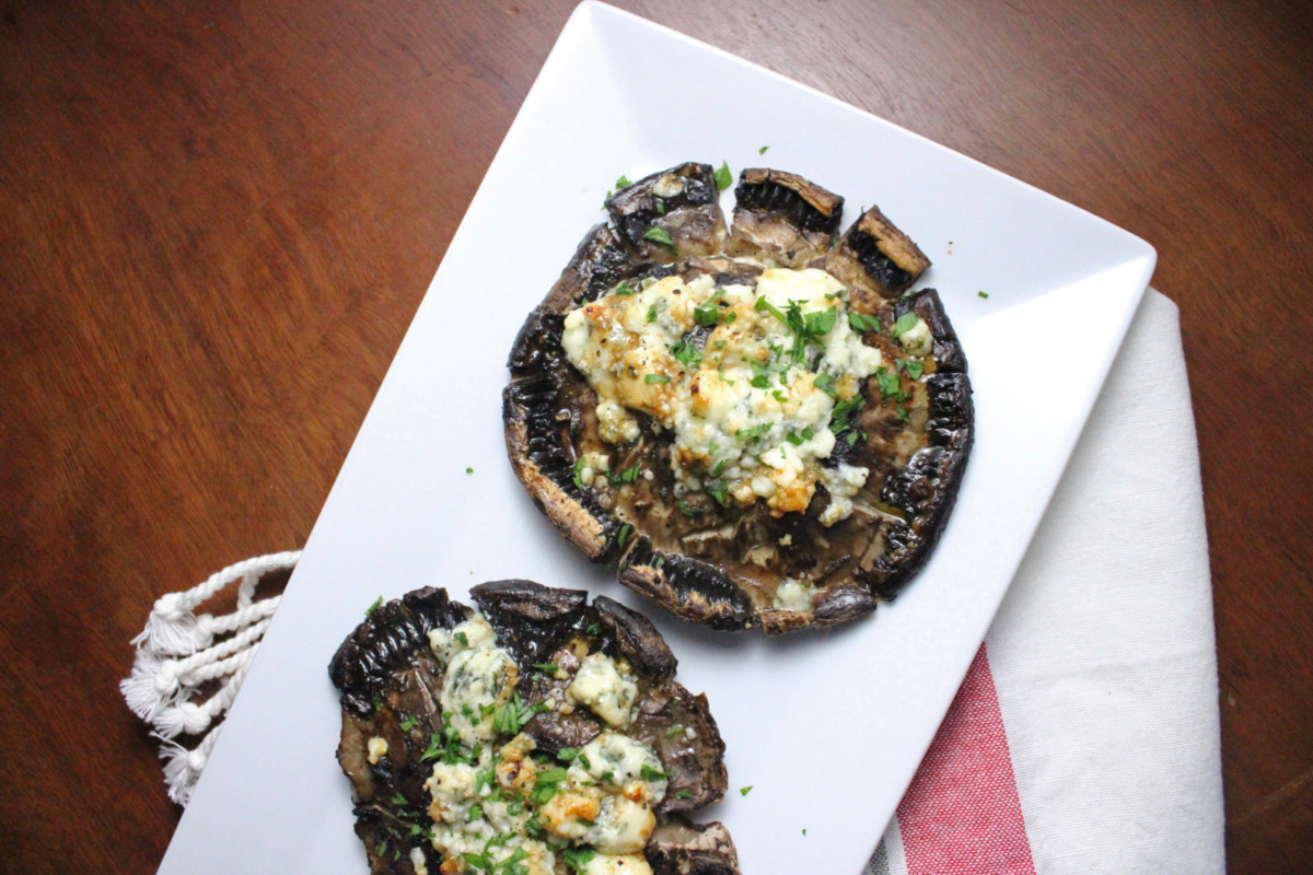Balsamic Roasted Portobello Mushrooms With Blue Cheese Keys To The Cucina