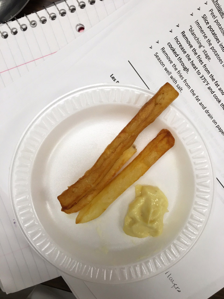 Pommes Frites with Homemade Mayonnaise (French Fries)