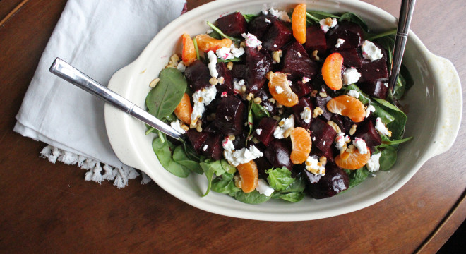 roasted beets goat cheese clementine salad keystothecucina.com 1