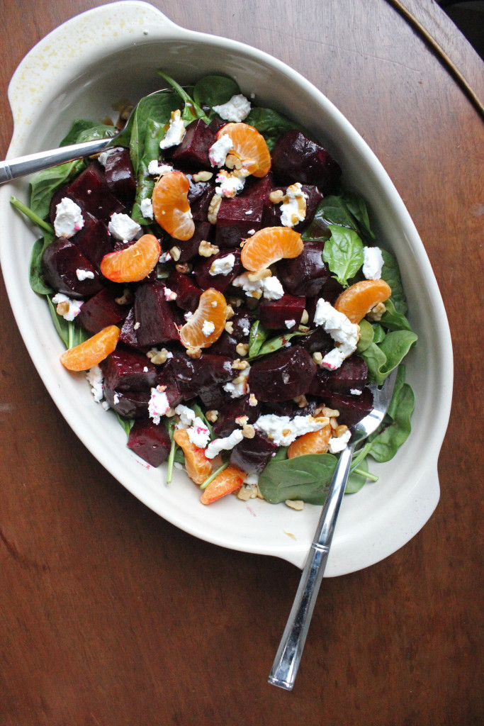 roasted beets goat cheese clementine salad keystothecucina.com 2