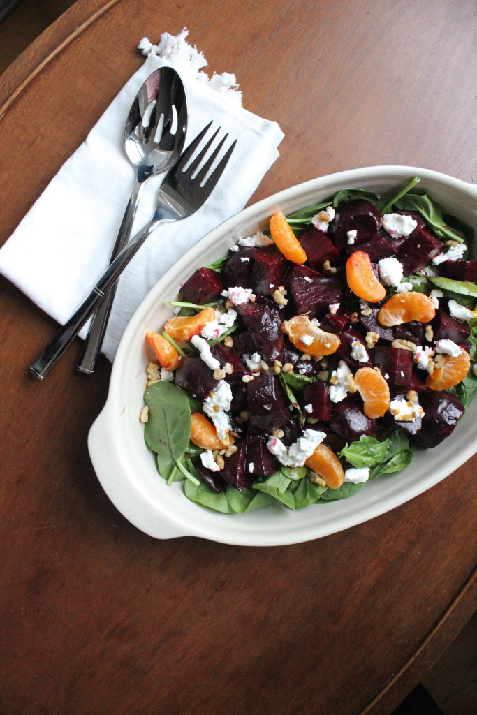 roasted beets goat cheese clementine salad keystothecucina.com 4