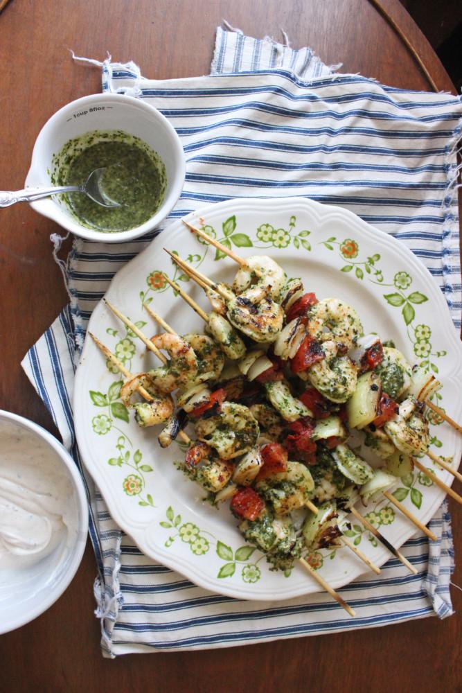 chimichurri shrimp kabobs keystothecucina.com 1