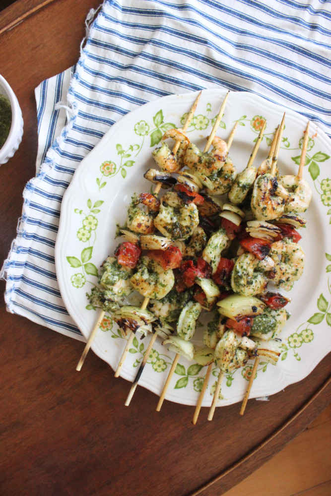 chimichurri shrimp kabobs keystothecucina.com 5