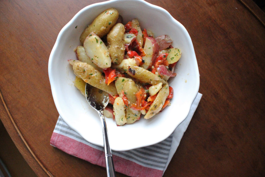 fingerling potato salad with anchovy vinaigrette keystothecucina.com 1