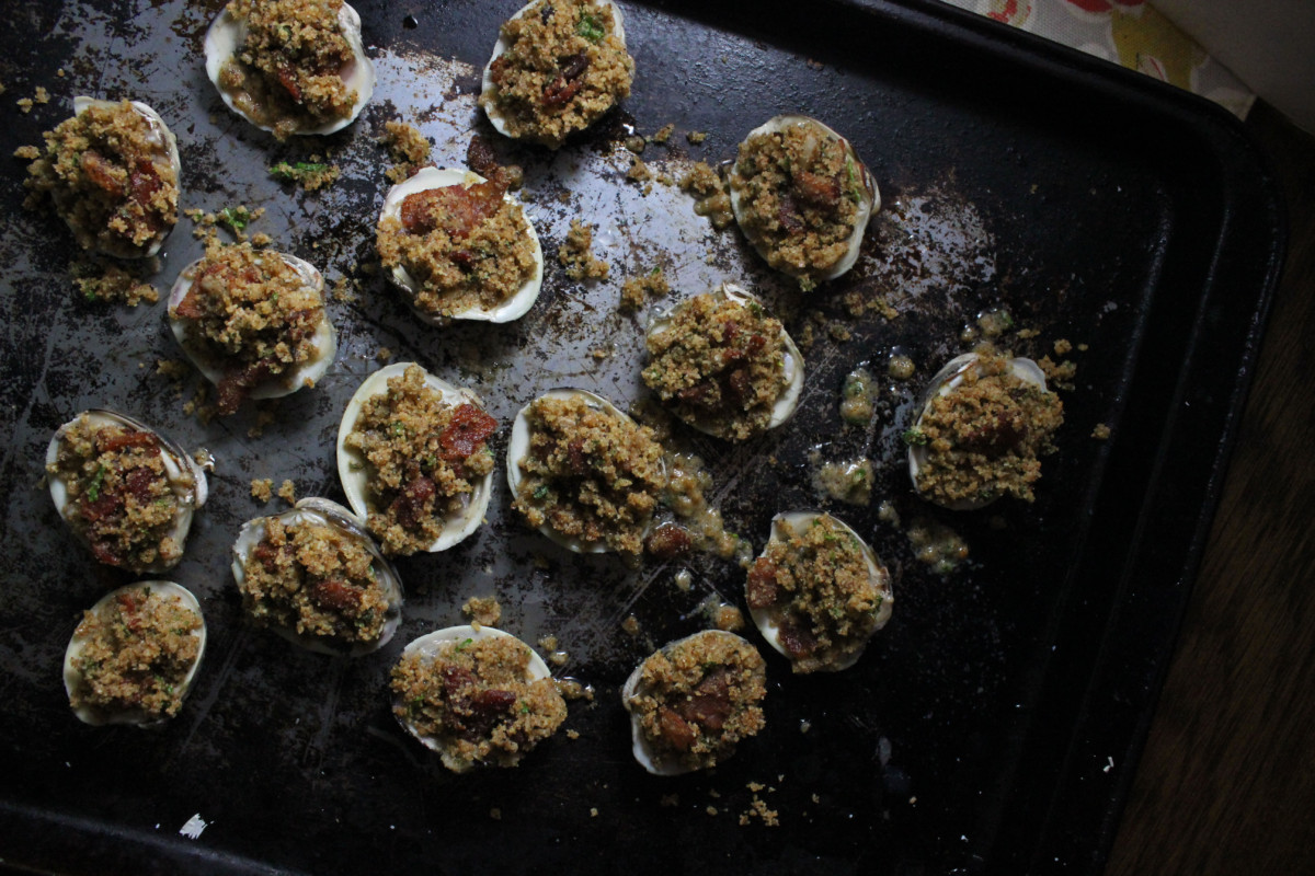 clams casino with bacon